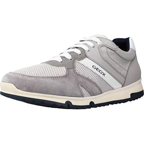Geox Herren Sneaker Low U Wilmer C, Light Grey U023xc01422c1010, 46 EU
