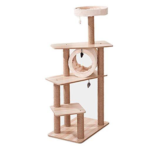 Hexiao Tiragraffi Grab Consiglio Grab Colonna Jumping Cat Sisal Corda Cat Struttura for arrampicarsi Albero Cat Claws Piccolo Sharpener for Cat Play (Colore: Beige, Formato: Formato Libero) xiao1230