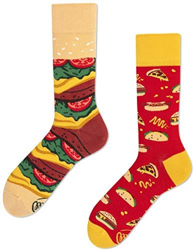 Many Mornings unisex Socken Fast Foot – Burger Pizza (35-38 TU)