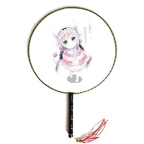 Shilia Ronde ventilator paleis ventilator anime cartoon karakter schattige oude wind groep ventilator houden ronde ventilator geschikt voor bruiloft evenement feest geschenken