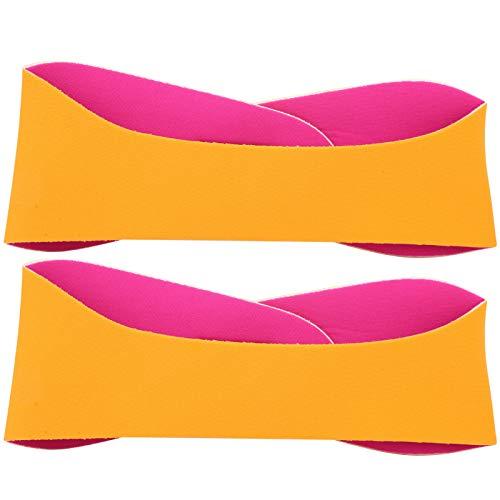 Omabeta Cinta para el pelo atado para la oreja, suave y cómoda de llevar, para yoga, deportes acuáticos y yoga, color naranja