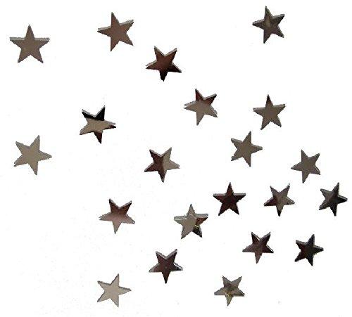 Mondial-fete - 30 gr confettis métal étoiles argent 1.5 cm