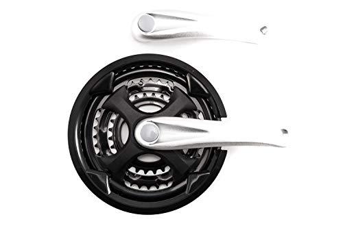 Fahrrad Antrieb Alu Kurbel Kettenrad Garnitur 3 Fach 28-38-48 Zähne 170mm lang