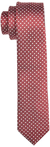 Roy Robson Herren schmal Krawatte, Rot (Hellrot 40), 6