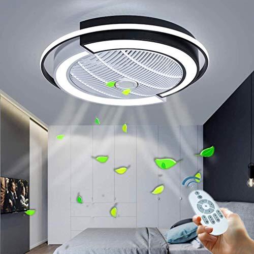 Leise Deckenventilator Licht Dimmbar Mit Fernbedienung Ultra Dünn Design LED Fan Deckenleuchte Schlafzimmer Kinderzimmer Esszimmer Ventilator Lampe Fan Deckenlampe Timing Fan Kronleuchter