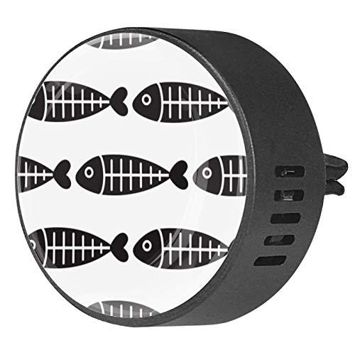 2 piezas Difusor de aromaterapia Difusor de aceite esencial para coche Clip de ventilación Pescado Patrón sin costuras Vector Dolphin
