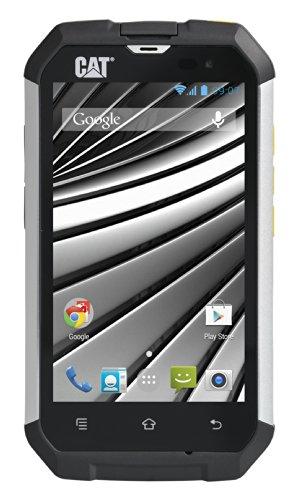 CAT B15 Q Smartphone (10,1 cm (4 Zoll) Touchscreen, 5 Megapixel Kamera, LED Blitz, 1,3 GHz Quad-Core Prozessor, Android 4.4 KitKat) silber