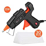 TACKLIFE Mini Hot Glue Gun 20w with 30 Pcs EVA Glue Sticks Flexible Trigger High Temp Overheating Protection and Heating up Quickly Hot Melt Glue Gun for DIY Small Craft and Quick Repairs-GGO20AC