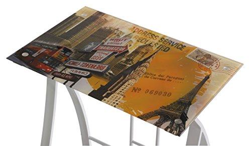 VIVACE Urban Mesa de Ordenador, Multicolor, 60x40x75 cm
