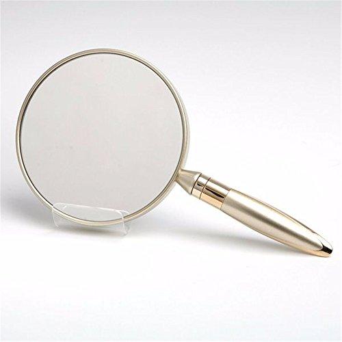 WanJiaMen'Shop Miroir à Main poignée Miroir Miroir de Poche Portable,13,7 * 11 * 25cm, de l'or