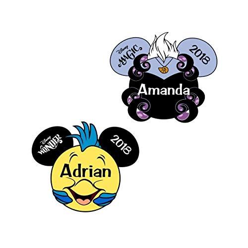 Personalized Disney Ursula Little Mermaid Magnet | The Little Mermaid Disney Inspired Magnet for Disney Cruise Door | Little Mermaid Flounder Fish Magnet