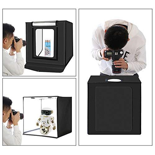 Yzibei Fotostudio Lichtbox 40 cm schieten Tent Folding Studio LED markeringen Professional Photo Softbox met 6 kleuren achtergrond doek