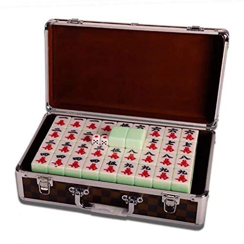 SEESEE.U Mahjong Chino, Juego de Mesa, Juegos de fichas con Paquete, 144 Juegos de Mahjong Tradicional Chino para la Mano, 40, 42, 44 para Fiesta, Entretenimiento (Color: Caja, tamaño: 42)