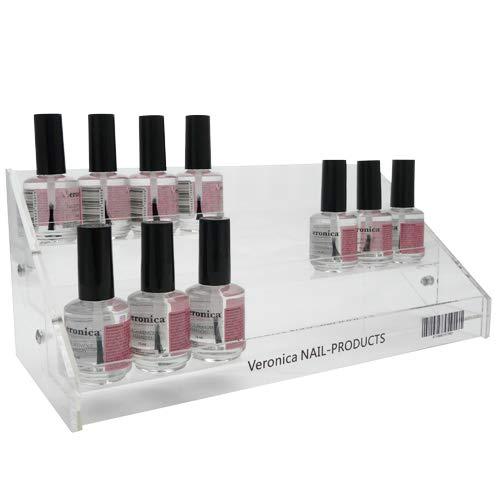 Acryl rek voor nagellakken, gel lak, stripers, nagellak met 3-niveaus. Nagellak rek voor 24-27 flesjes, ook voor gel nagellak / gelnagellak te gebruiken. Nagellak rek kan staand of hangend worden geplaatst. Perfect voor uw nagelstudio.