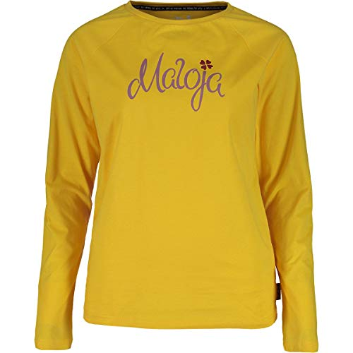 Maloja Damen Sotcham. T-Shirt, Gelb (Sunlight 8204), X-Small