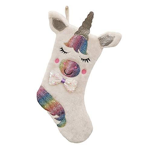 Aisoway Natale Calze Unicorn Decorazioni Personalizzate Grande Calza Per I Sacchetti Regalo Famiglia Dei Bambini Ornament