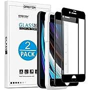 OMOTON [2 Unidades Cristal Templado para iPhone SE 2020 Protector Pantalla de iPhone 8/7, Cobertura Total Vidrio Templado iPhone SE 2da Generación sin Burbujas 【4.7 Pulgadas】