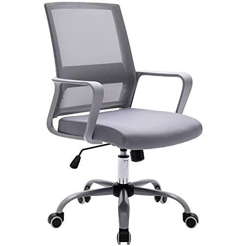 DJDLLZY Sillas de oficina silla ergonómica for sillas hogareño de videojuegos, Silla de escritorio de oficina en el centro posterior Silla giratoria Silla de tareas Soporte lumbar con apoyabrazos y re