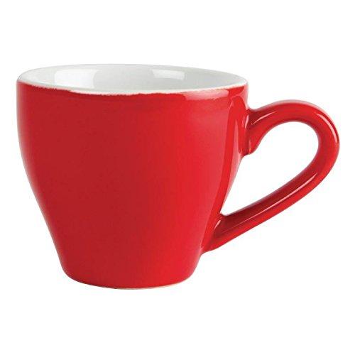 Olympia gk070Café Espresso Tasse, 100ml, 3,5OZ, Rot (12Stück)
