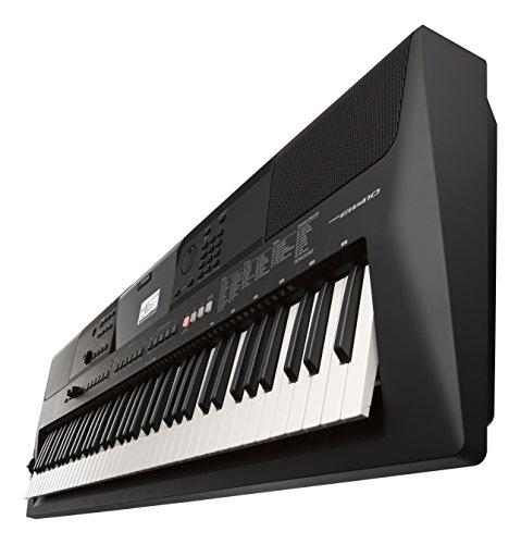 Yamaha Digital Keyboard PSR-EW410 – Tastiera Digitale ideale per principianti esigenti – Design portatile con 76 tasti dinamici, vari stili musicali e funzioni di apprendimento – Nero