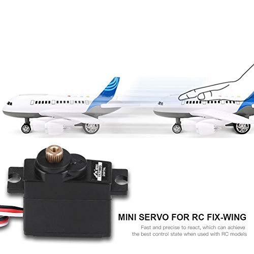 Dilwe RC-Digital-Servo, 17g 4.8-6V-Analog-Servo-Mini-Micro-Metal-Servo für RC-Starrflügel