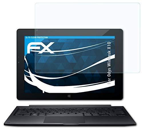 atFolix Schutzfolie kompatibel mit Odys Windesk X10 Folie, ultraklare FX Bildschirmschutzfolie (2X)