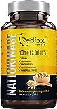 Nattokinase von Redfood® 100mg NEU mit MAGENSAFTRESISTENTEN KAPSELN 2000 FU 290 Kapseln Vegan hohe Bioverfügbarkeit ohne Magnesiumstearat ohne K1 K2 mit Analyse Zertifikat