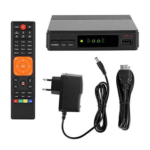 Set Top Box, DVB-S/S2 HD Set Top Box TV Box Media Player con Control Remoto (UE 110-240V)