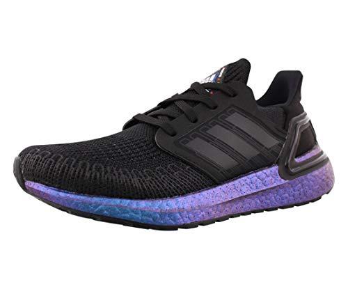 adidas unisex child Ultraboost 20 Sneaker, Black/Black/Boost Blue Violet Metallic, 5 Big Kid US