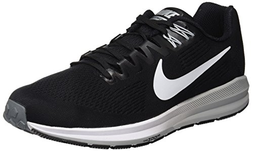 Nike Men's Air Zoom Structure 21 Running Shoe Black/White-Wolf Grey-Cool Grey 8.5