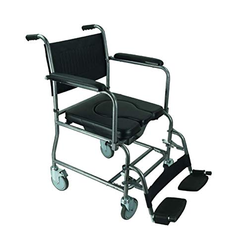 YASE-king Silla de rehabilitación médica, silla de ruedas, silla de ruedas multi-función carro, del asiento discapacitados Lavabo con Ruedas