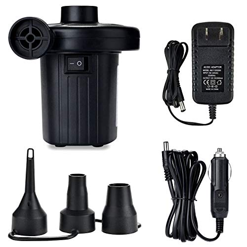 Jasonwell Electric Air Pump Portable Quick-Fill AC DC Inflator Deflator Pump for Air Mattress Inflatables Pool Floats Water Toy Raft Bed Boat Pool Toy with Nozzles110-240 V