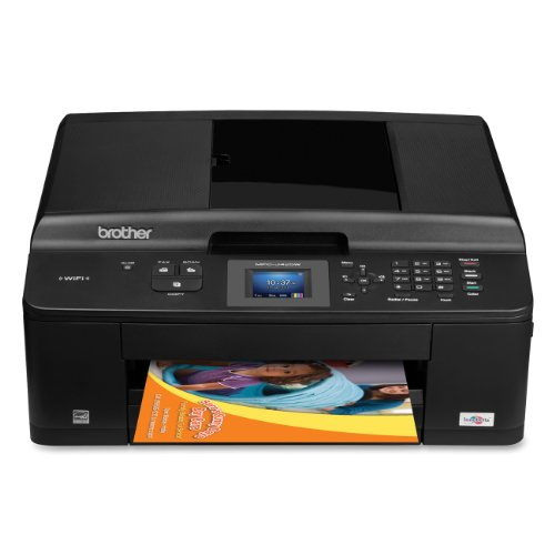 Brother Printer MFCJ425W Wireless Color Photo Printer with Scanner, Copier and Fax,Black