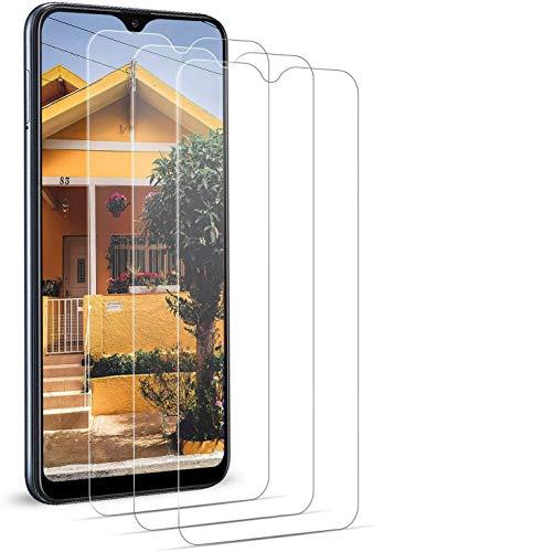 BOBI Protector de Pantalla Samsung Galaxy A10 Vidrio Cristal Templado 9H Dureza Resistente Definición Sensibilidadsin Burbujas (3 Unidadess)