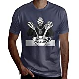 Wokeyia Tshirt Man Hustlin Rick Ross COOPS Remix Top T Shirts Navy Combed Cotton S
