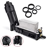 3mirrors Engine Oil Cooler Assembly Filter Housing Adapter Compatible with 2011 2012 2013 Jeep Wrangler Grand Cherokee Dodge Avenger Challenger Durango Grand Caravan Chrysler 3.6L 3.2L