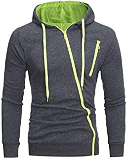 Casual Cotton Long Sleeve T shirt Men Slim Fit Hooded T-shirts Pullover Hoodies Tops With Zipper