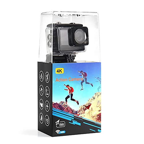 Morninganswer Dual Screen 4K 60FPS Impermeabile WiFi Anti-Shake Sports DV Videocamera 170 grandangolare Senza distorsione