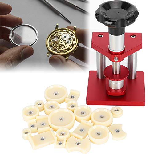 Ver contraportada presionando reloj máquina taponadora reparación de relojes, adecuada para relojeros y trabajadores de reparación de relojes