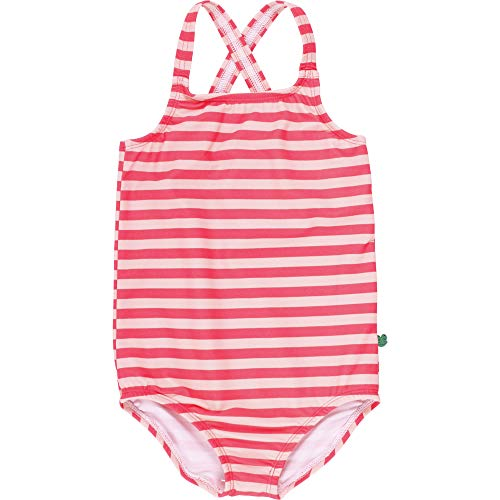 Fred's World by Green Cotton Baby-Mädchen Swimsuit Girl Badeanzug, Orange (Coral 016164001), (Herstellergröße: 92/98)
