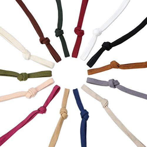 Sweatshirt Hoodie Flaches Baumwollband Ribbon Cordseil,10 & 15mm,Garment Hoodie Tunnelzug. 26 Farben, Weiß, 5 Meter (10mm)