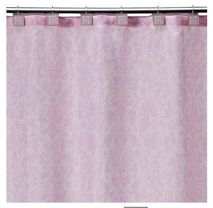Subtle pink damask shower curtain