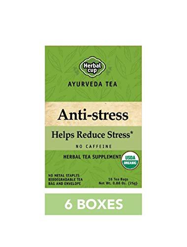 HERBAL CUP ANTI STRESS TEA - 6 Pack, 96 Tea Bags Total ORGANIC