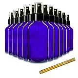 Chef's Star - Botellas de cristal de 4 onzas con rotulador dorado, botella pequeña para spray para cabello, aceites esenciales, colonias y desinfectantes de manos, azul, paquete de 24