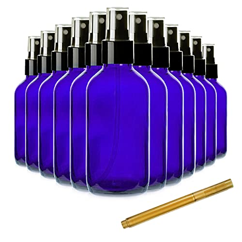 Culinaire 2oz Glass Spray Bottles for Essential Oils, Small Fine Mist Spray Bottles, Pack of 24, Blue