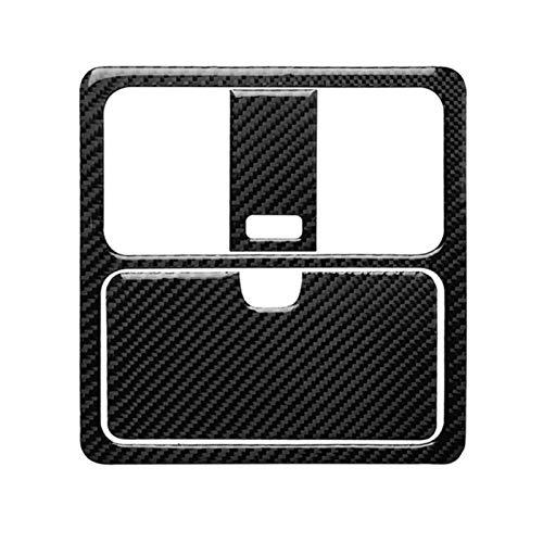 Reunion 3 unids Coche de Fibra de Carbono Interior Pegatinas de moldeo automático Techo de Lectura de lámpara de Lectura Cubierta de Ajuste de Ajuste de Cochecito para Nissan 350z