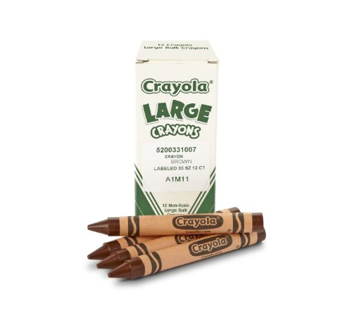 Crayola Large Crayons, Brown, Art Tools for Kids, 12 Count (52-0033-007)