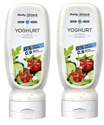 Body Attack Salatdressing - Vegan und Low Carb, 2er Pack (2x 320ml) (Yoghurt)