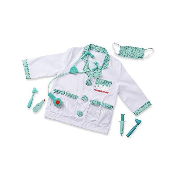Melissa & Doug Doctor Disfraz para Niños, Multicolor (96022)