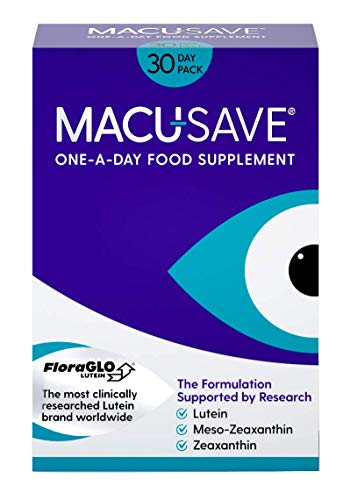 Macu-SAVE Food Supplement for Macular Health with Meso-Zeaxanthin/Lutein and Zeaxanthin - Pack of 30 Capsules